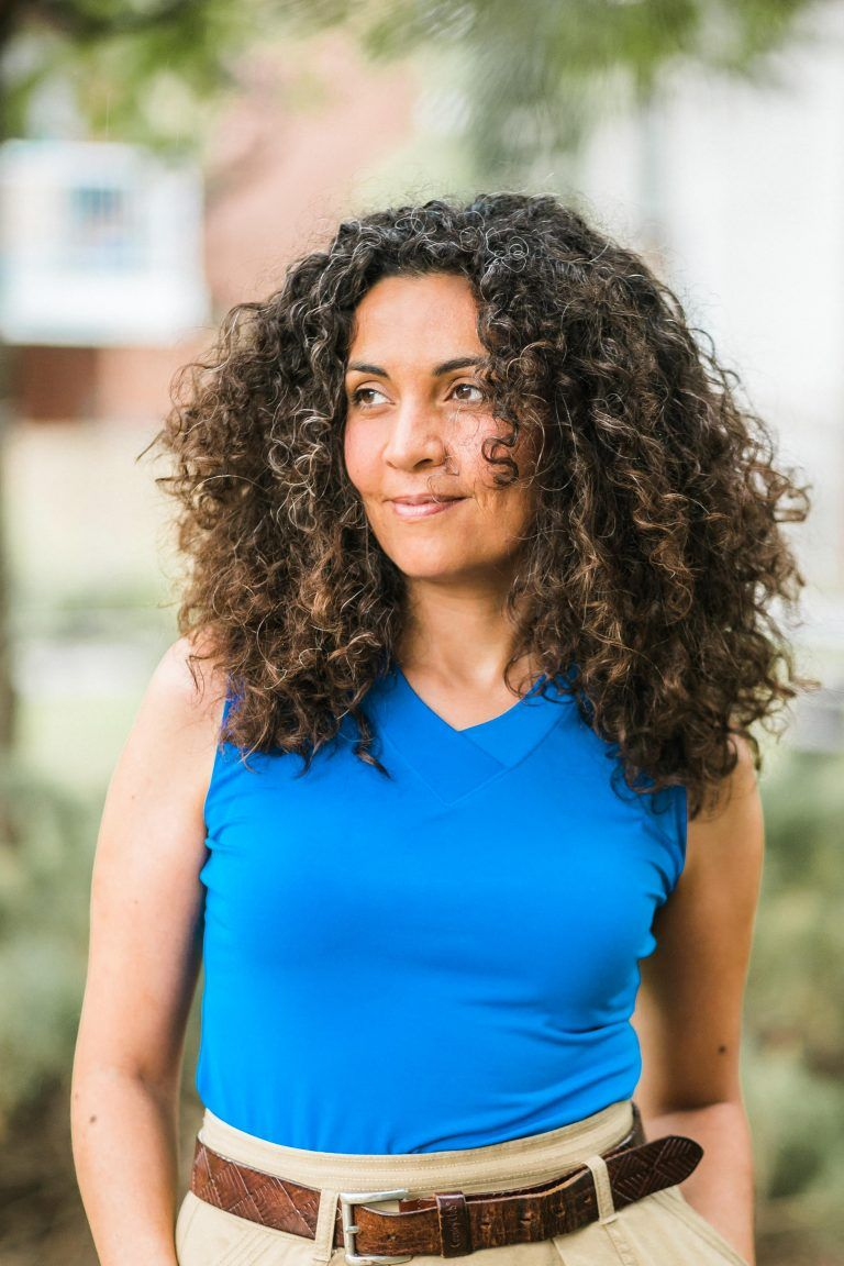 الروائيّة الفلسطينيّة يارا الغضبان/(c) Manoucheka Lachérie