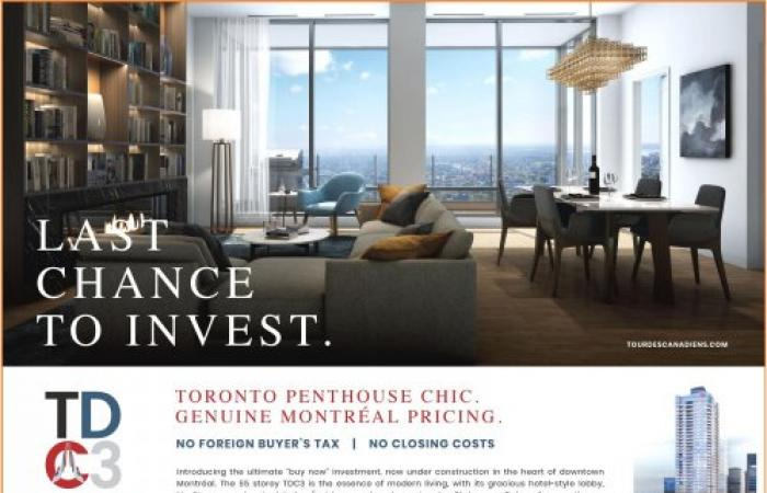 BOOK YOUR PRIVATE APPOINTMENT TODAY. T +1 514 905-1909 | sales@tourdescanadiens.com-LUXURY PENTHOUSES FROM THE $500,000s*- GENUINE MONTRÉAL PRICING.